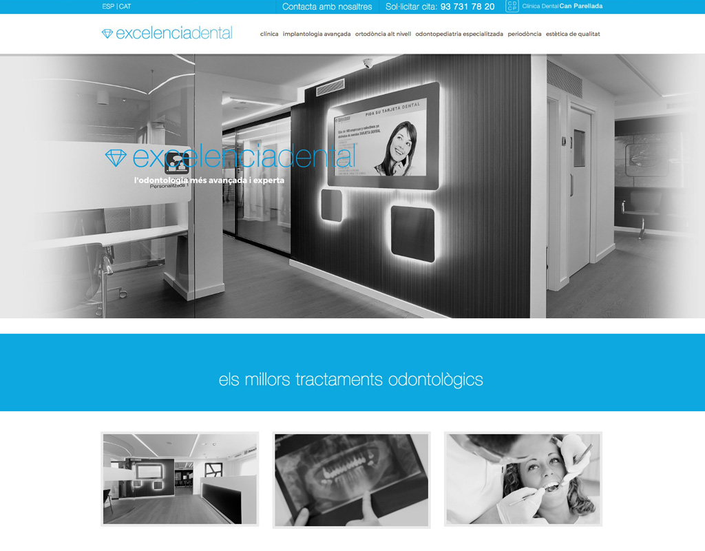 páginas web clínicas dentales